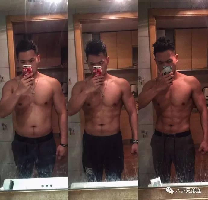 减脂三个月,体重从93kg到80kg,八块腹肌棱角分明瘦腰两侧v三个图片