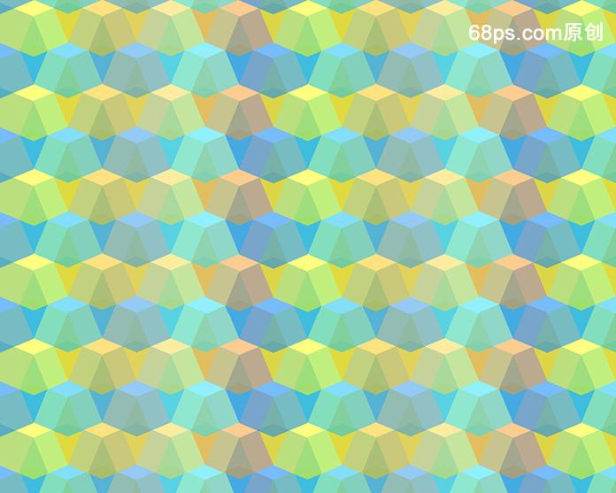 教程 PS制作创意几何填充图案背景