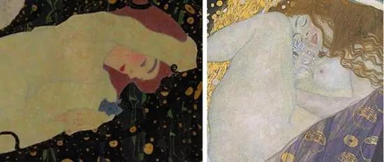 文化 正文    而席勒对于《达娜厄》背景的处理,也是克林姆特背景中图片