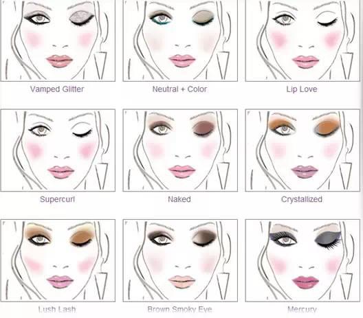 三色眼影的画法步骤�_那么小芽给大家带来两个图谱,分别是二色和三色的眼影配色方案哦!