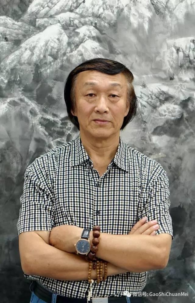 菜水墨画-师恩钊   北京北派山水艺术中心主任,中国山水画研究院副院长,中国