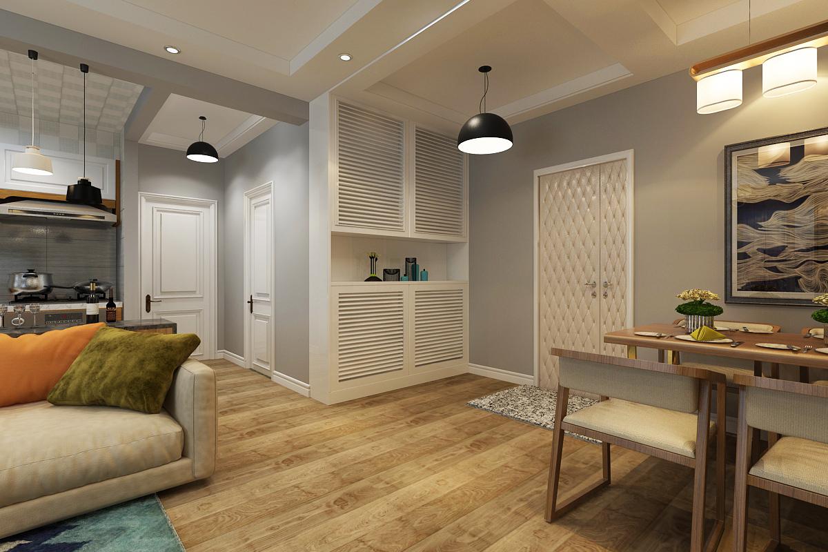 理想0451北欧风格装修两居室-客厅