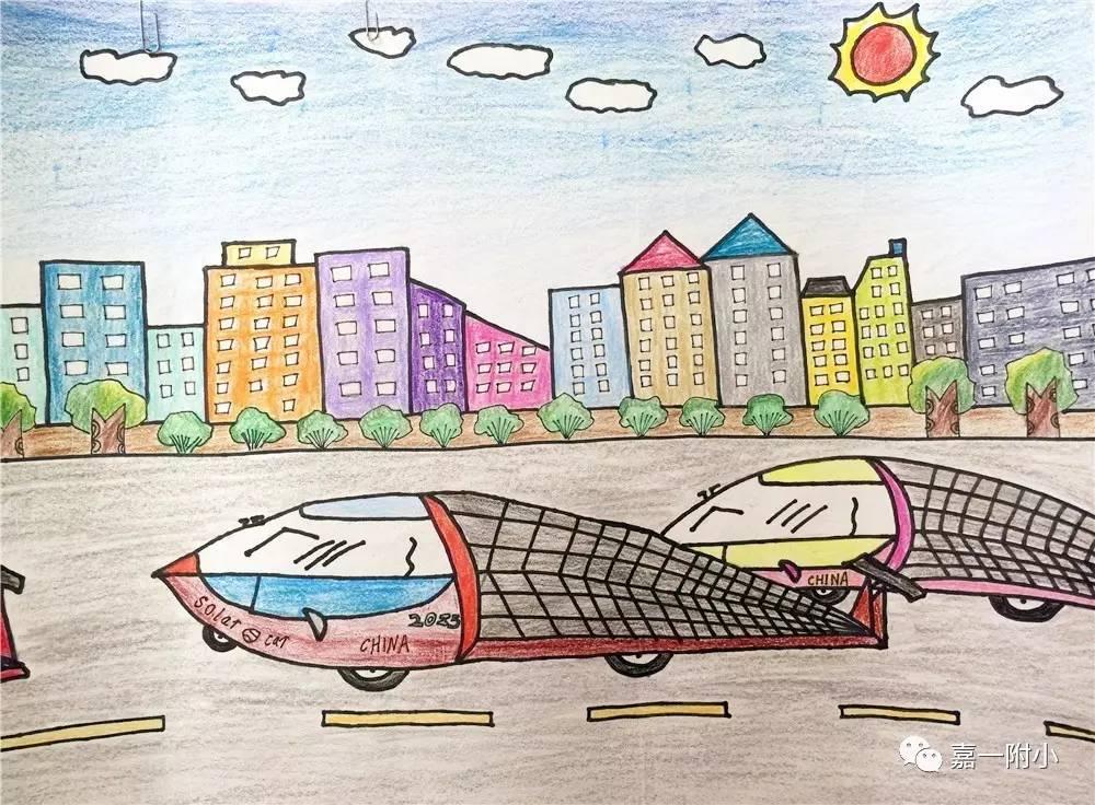 未来汽车 科幻画入选作品欣赏高清图片