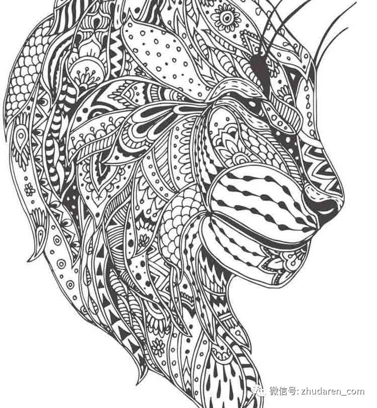 黑白动物缠绕画线稿猫狗兔子等透明png装饰画aieps矢量素材