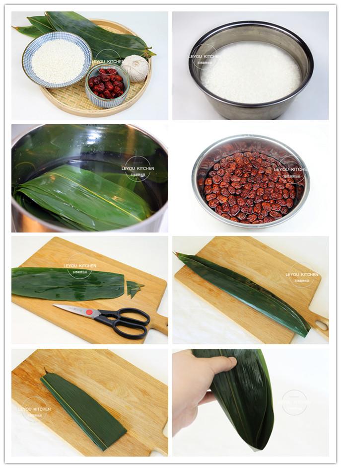 这样包粽子方法简单,不漏糯米,形状好看