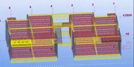 预埋接线盒位置和后浇混凝土留缝符合规范要求.