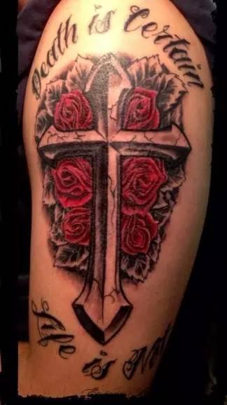 十字架纹身 基督差遣我