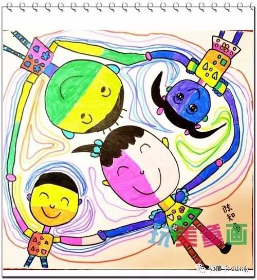幼儿园儿童画 我的好朋友