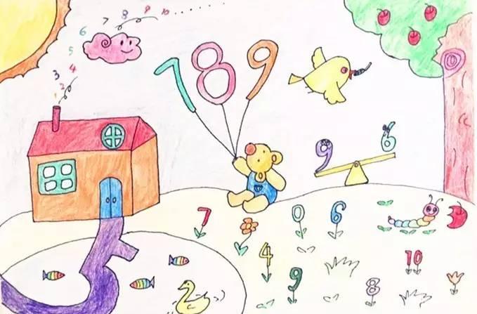 数学变变变——数学美化生活创作大赛 老师们启发学生以数字,图形等为图片