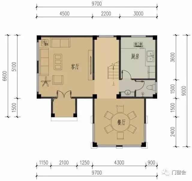 7x9米二层中式农村别墅住宅,全套设计图纸.