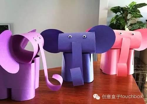 入门级玩法:立体小动物 窍门分享:将纸卷起来作为动物鼓鼓的身体,再