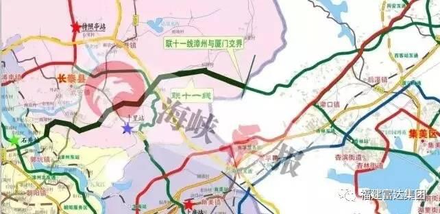 北接环城路和规划中的厦漳城际轨道交通r2线,直达厦成高速,南通国泰路