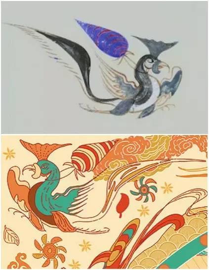 第285窟 南壁斗鸡图 与丝巾敦煌元素图片