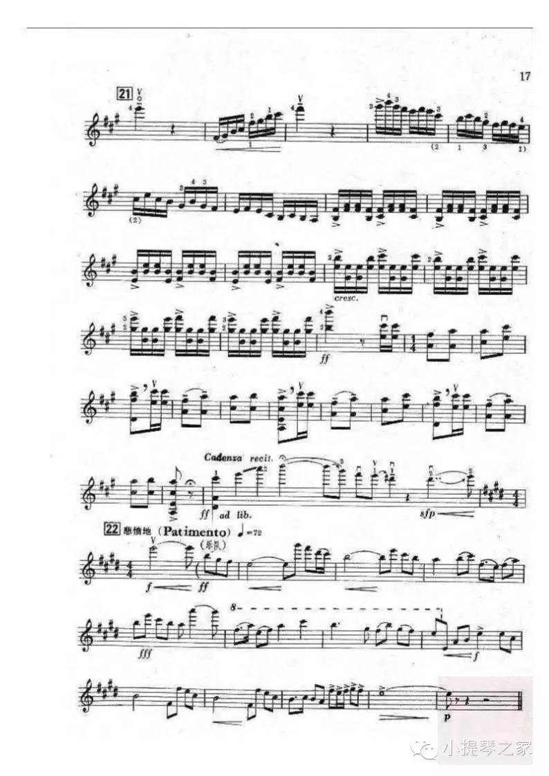 5.20精选小提琴曲 梁祝 附乐谱 陈刚