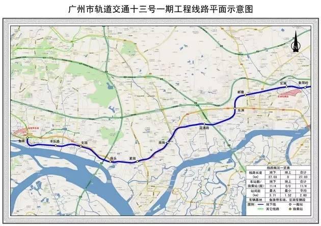 地铁13号线线路图-年底就能乘上 广州今年再通四条地铁,沿线盘最新图片