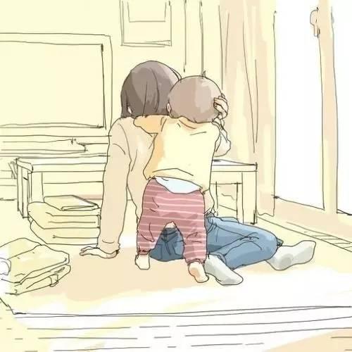 温暖手绘:你陪我长大,我陪你变老