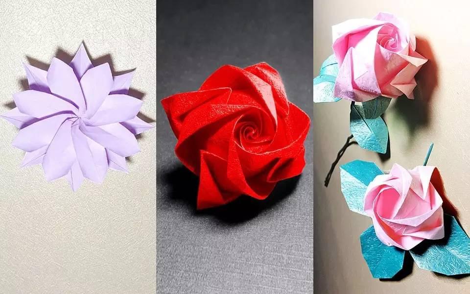 莲花折纸花步骤图解
