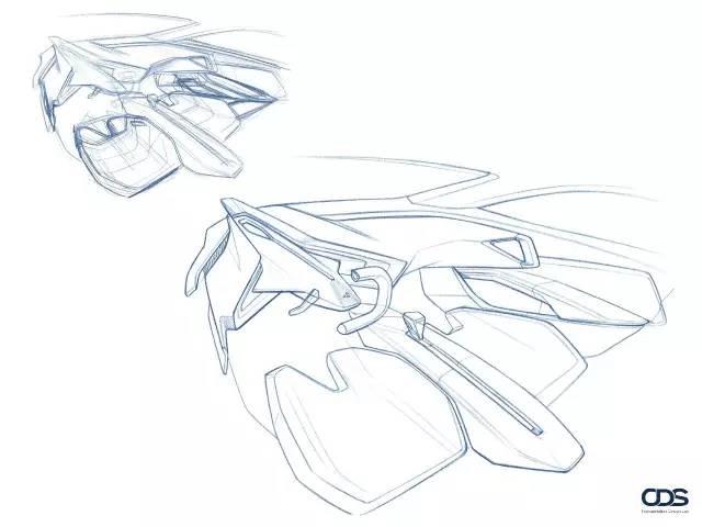 汽车座椅顶视图手绘图