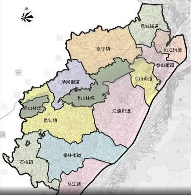 古代六合县曾包括整个江北,明朝洪武9年分出古江浦县,民国时期又分出图片