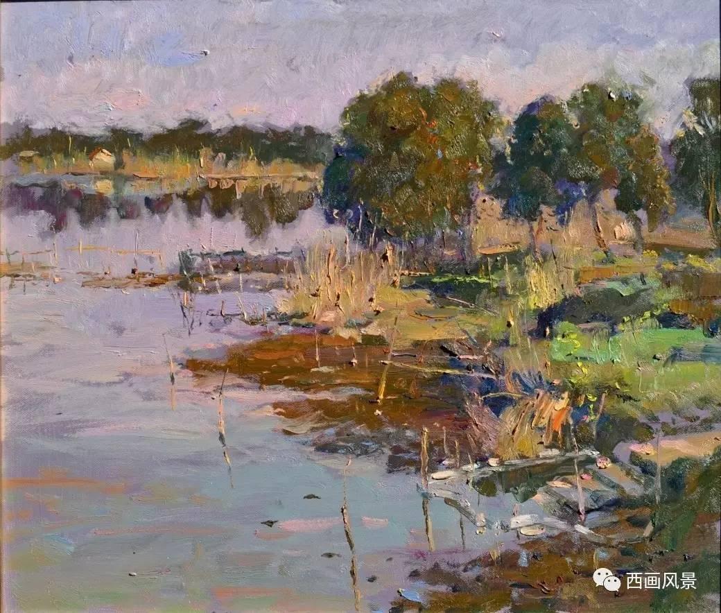 一个极其追求色彩的风景写生油画家-隋军