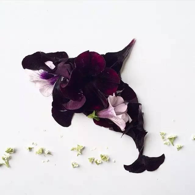 打印出来 各种形状的树叶,花瓣,浆果;卡纸,固体胶,彩笔, 步骤: 选好