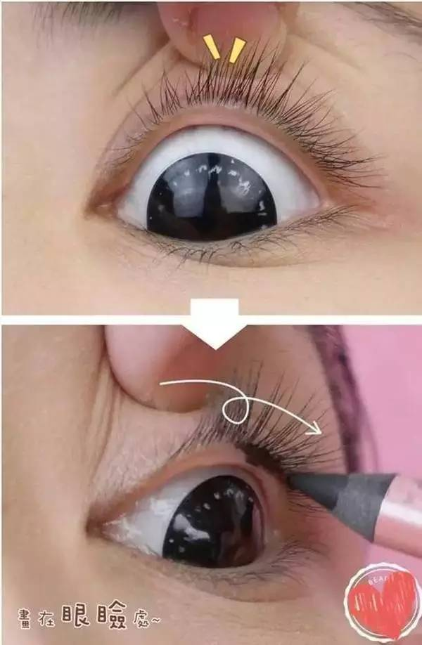 画眼线是一个技术活, 眼线画好了可以瞬间放大自己的图片