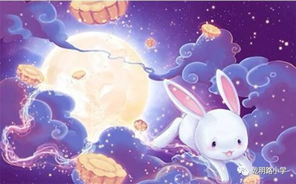 """""""小兔子尖叫一声,""""水面怎么也有月亮?"""