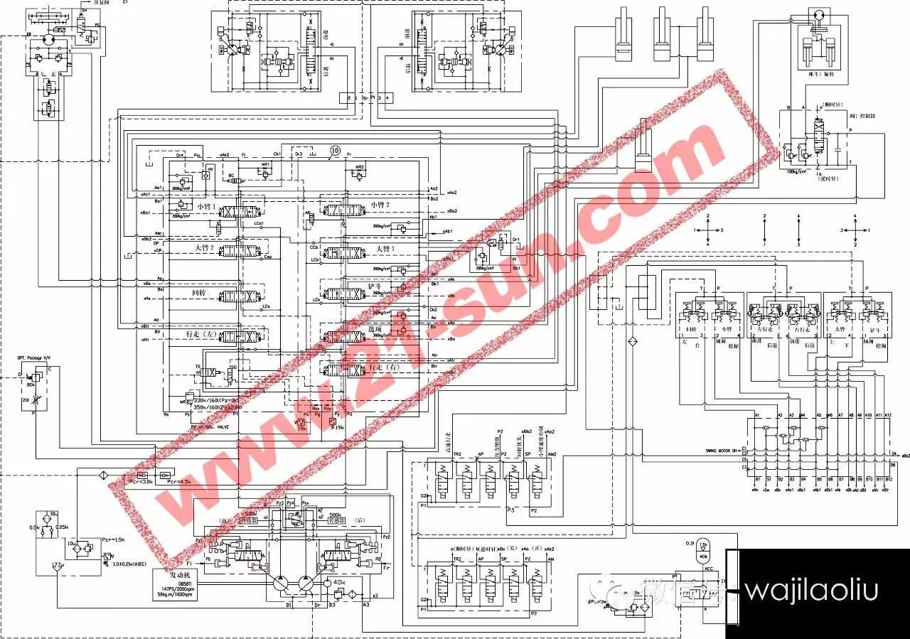 大宇dh220lc-7液压系统原理图图片