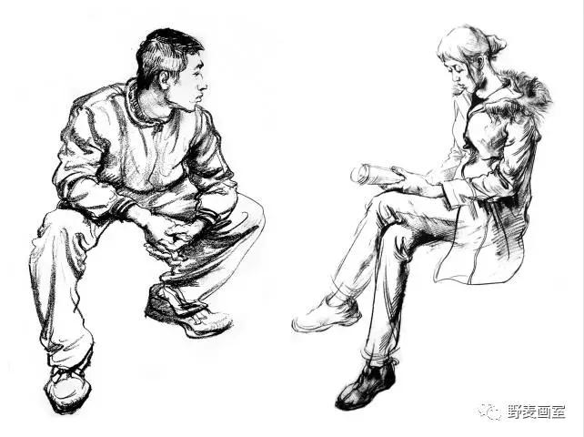 模特形体动态图手绘
