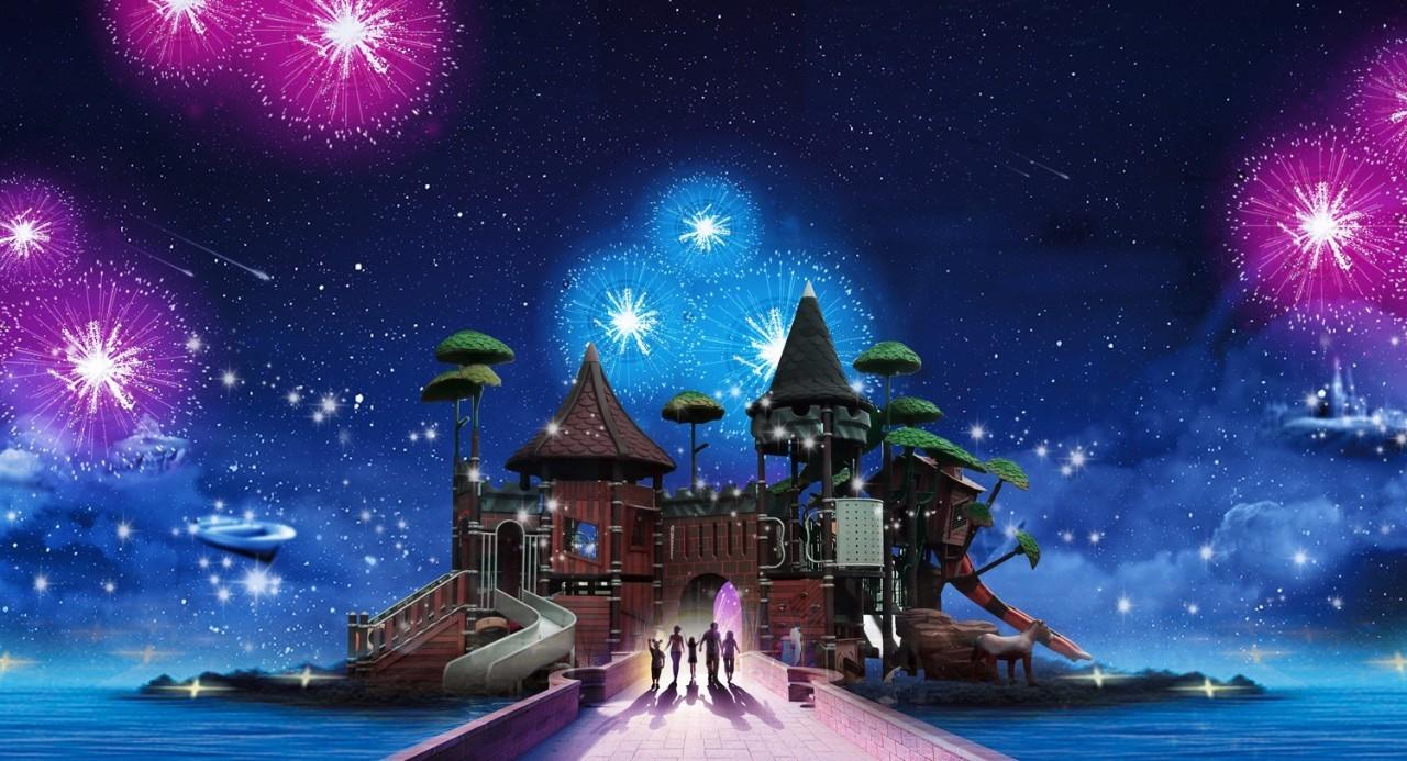 梦幻水上城堡