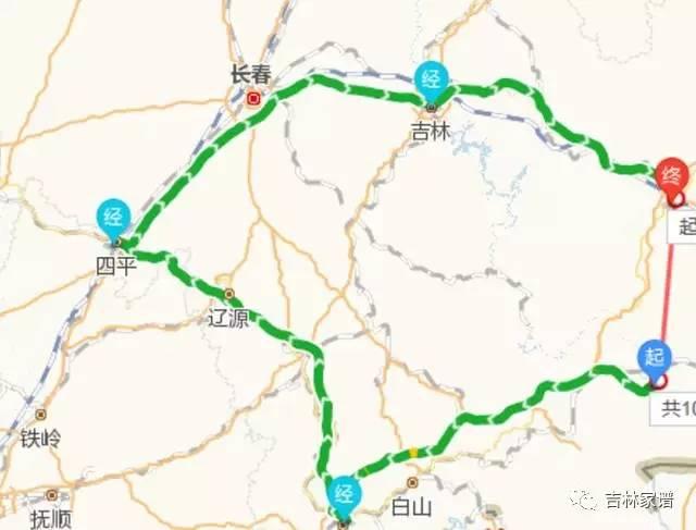 吉林�9k�9�&�`�yn���9��_148km 直线距离:102km 命运:从白河改线到靖宇后,敦化缩线到吉林,惨遭