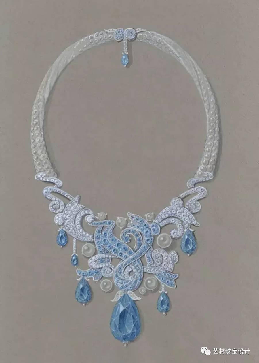 珍珠手繪設計圖