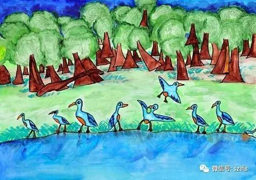 往来湿地歌春曲 我校学子在2017 畅想湿地未来 国际湿地主题少儿绘画大赛中取得优异成绩