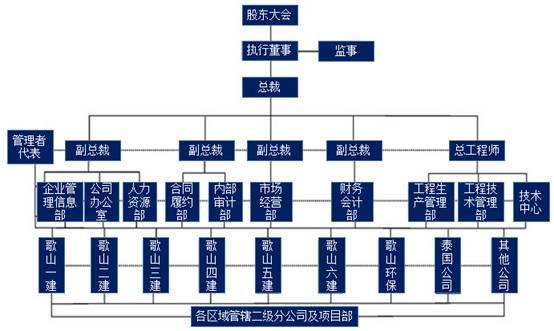 20家大型民營建筑企業:組織結構圖大集錦!差異很大!圖片