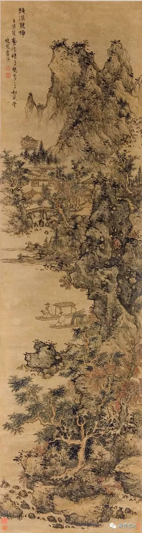 【国画研究】基础教程:清代大师蓝瑛及其武林派的山水图片