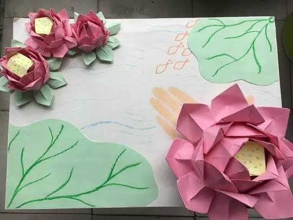 各种折纸荷花步骤图解