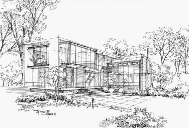 经典建筑手绘效果图