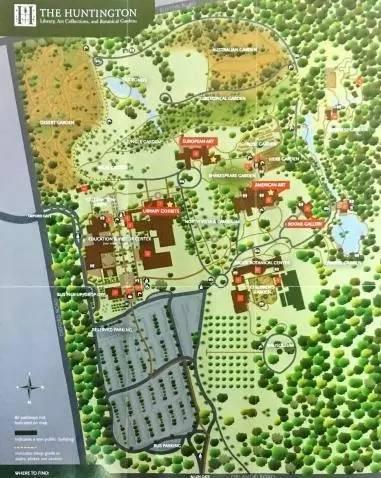汉庭顿植物园平面图