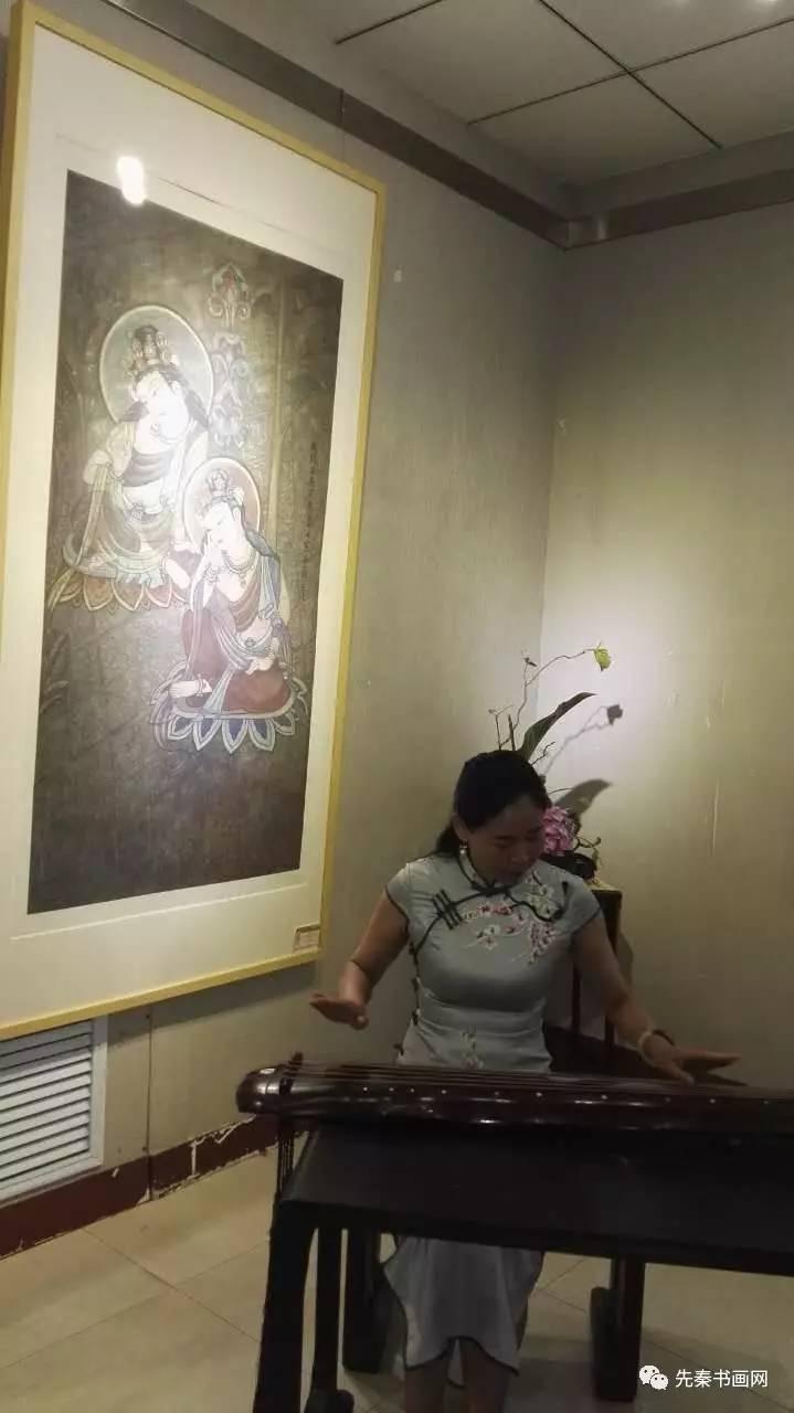 感恩母校—《又见敦煌》修习敦煌壁画艺术作品展在宝鸡文理学院开幕图片