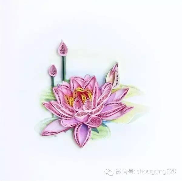 卷纸玫瑰花步骤图解