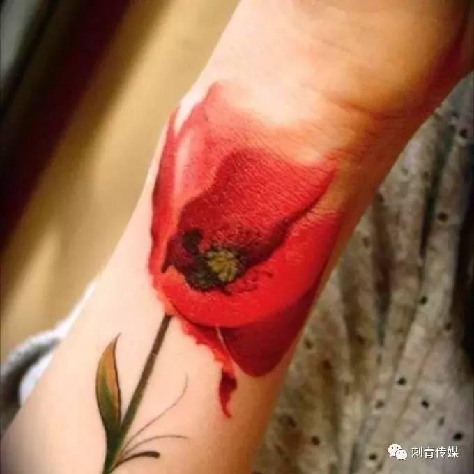 文化 正文                  罂粟花纹身是看中了罂粟花纹身的含义,正图片