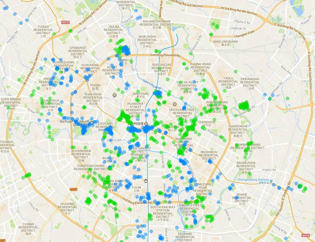 成都市区矢量地图