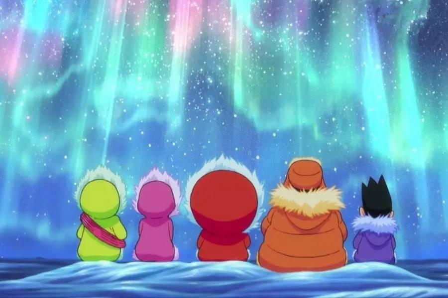 童年 和哆啦A梦陪大雄一起去南极大冒险图片