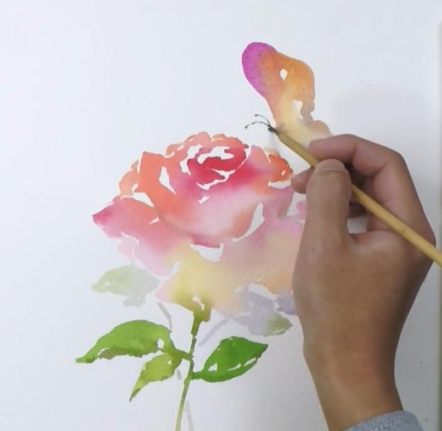 花卉手绘彩图教程
