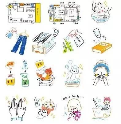 手账简笔画素材 | 敲可爱的日系简笔画手帐素材一组