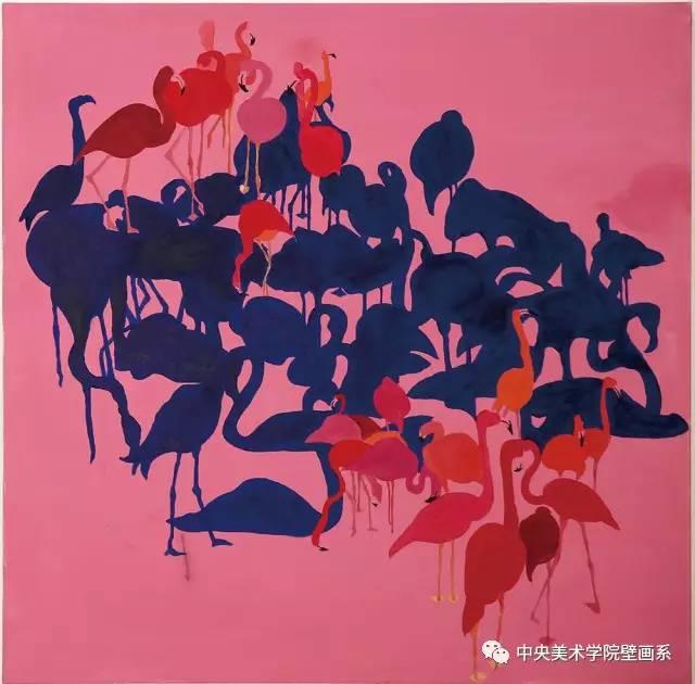 遂选取有意思的动物外形,以正负形的方式和对比强烈的颜色绘制,旨在