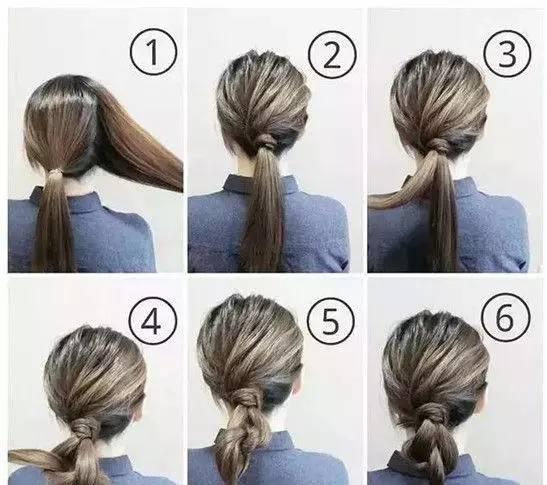 盘发步骤图解: 1,首先将头发分成两份