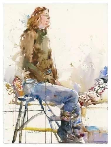 【绘画】美国水彩大师charles reid 的人物画