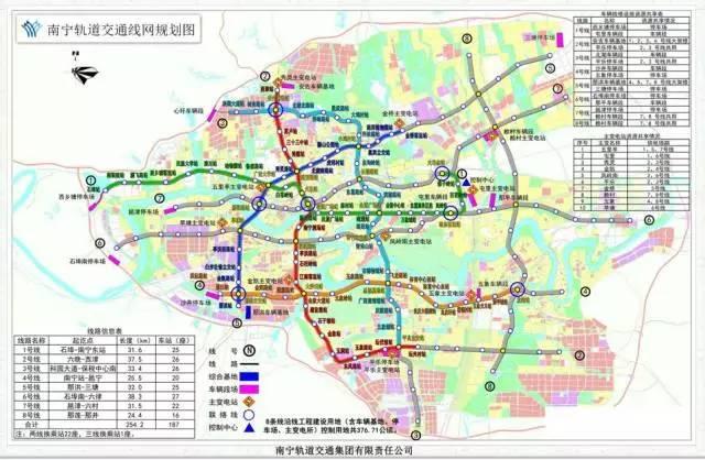 南宁地铁规划图.