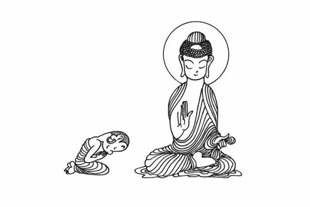 禅文化元素手绘